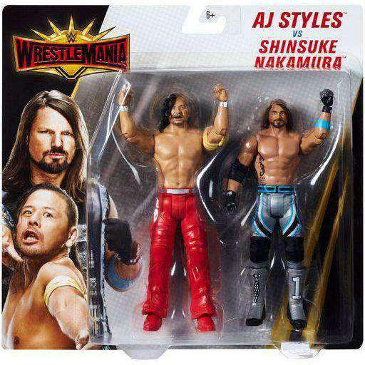 Image of WWE Wrestlemania 2 Pack - AJ Styles vs. Shinesuke Nakamura Action Figures
