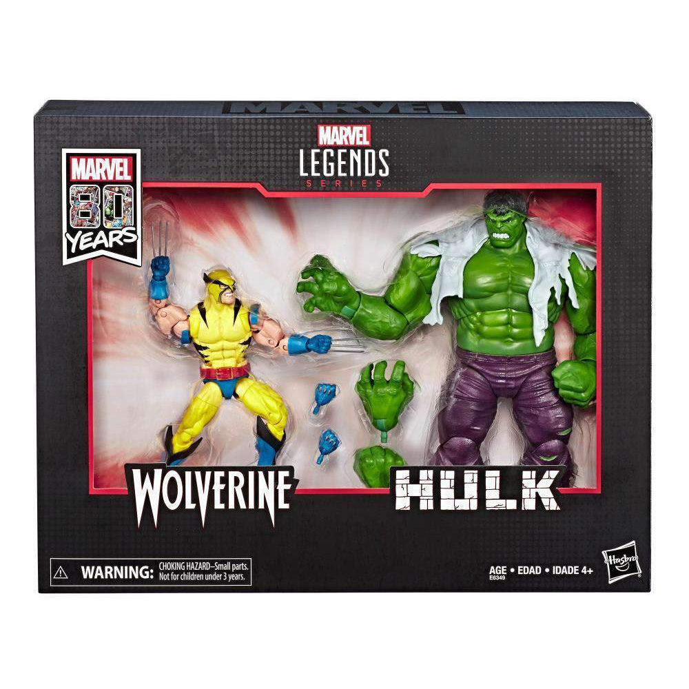 Image of Marvel Comics 80th Anniversary Marvel Legends Hulk Vs. Wolverine Two-Pack - AUGUST 2019