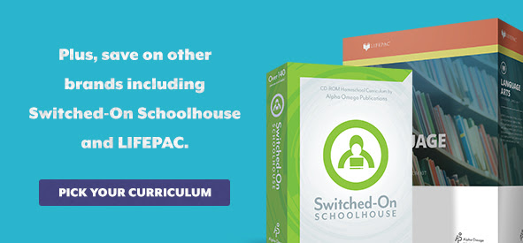 Save 20% on Switched-On Schoolhouse and LIFEPAC in April