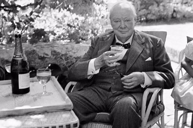 Winston wets his whistle: Churchill's indulgences