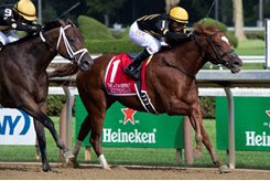 Lexitonian wins the Alfred G. Vanderbilt Handicap at Saratoga Race Course