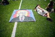 Waiting to hear Bernie Sanders speak in May at Rancho Buena Vista High School in Vista, Calif.