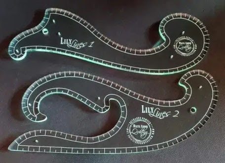 Lily Lines 1 & 2 Set, French curve rulers