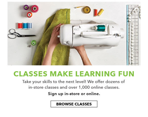 Classes make learning fun. Browse Classes.
