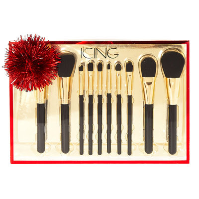 BLACK & GOLD 10 PIECE MAKEUP BRUSH SET
