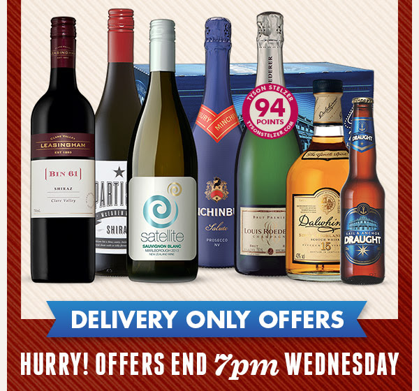Click Frenzy starts now, on selected wines + free delivery just for 24 hours only at DanMurphys.com.au