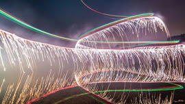 This is What You Get When You Strap Fireworks to a Drone for Long Exposure Photos
