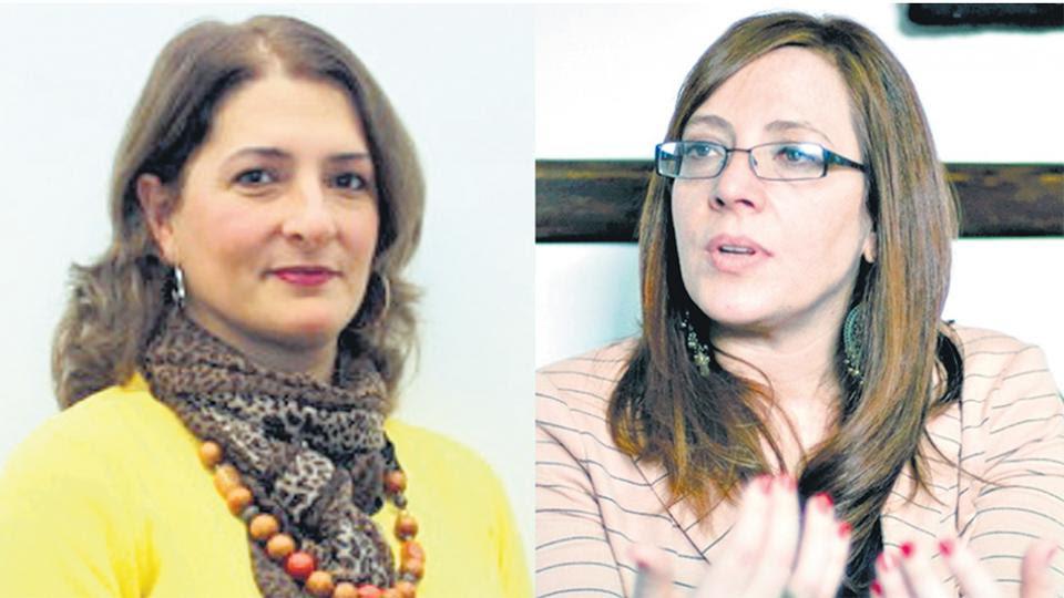 Las juezas María López Iñíguez y Sabrina Namer, integrantes del Tribunal Oral Federal 8.