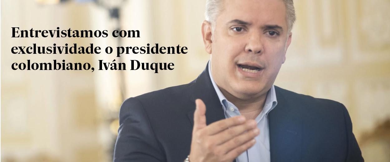 Entrevistamos com exclusividade colombiano, Iván Duque