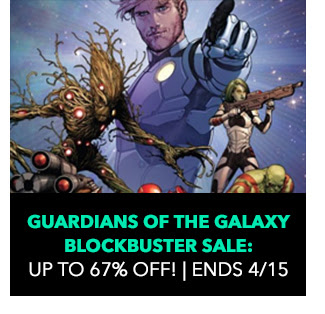 Guardians of the Galaxy Blockbuster Sale: up to 67% off! Sale ends 4/15.