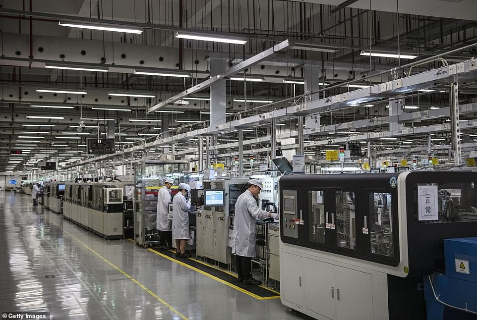 Dongguan in Guangdong, where Huawei's new offices are located, have long been branded as China's 'factory for the world'
