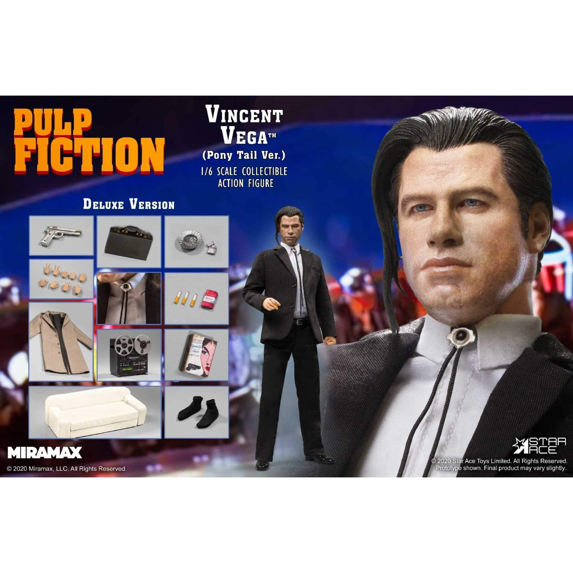 "Image of Pulp Fiction – Vincent Vega ""Pony Tail Version"" 1/6 Scale Figure Deluxe Version - SEPTEMBER 2020"