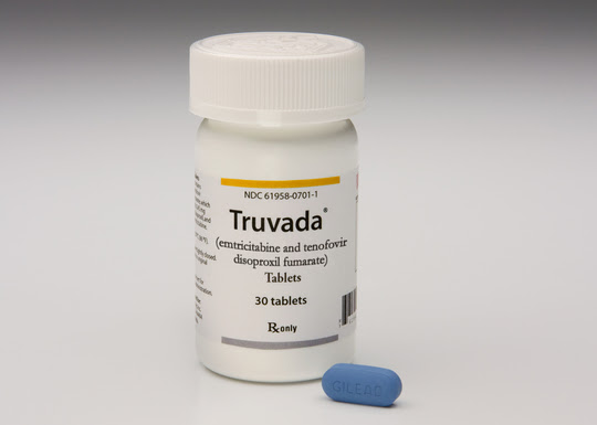 Truvada pill and bottle