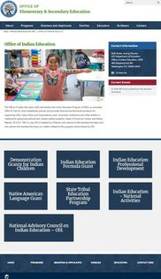 Office of Indian Education webpage