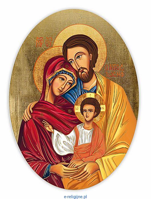 Święta Rodzina ikona Domowego Kościoła 22 x 30 owal