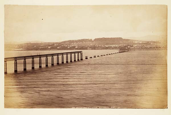 (57) 1397. J,V. - Tay Bridge from south after accident