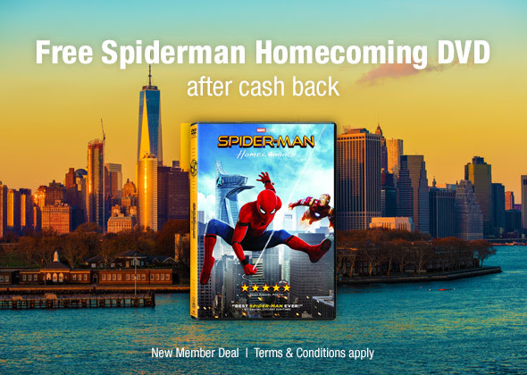 FREE Spider-Man Homecoming DVD