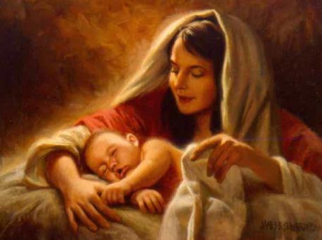 Znalezione obrazy dla zapytania matka boza w stajence betlejemskiej