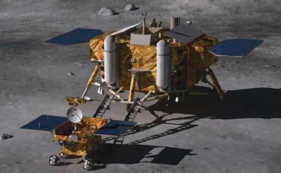 Ilustración de la sonda lunar china 'Chang E3'. / Instituto de Ingeneiería Espacial de Pekín