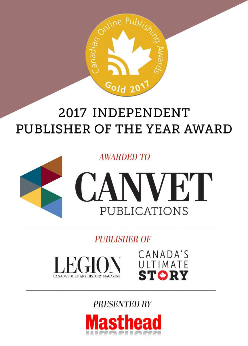 Canvet Publication Ltd. was named 2017 Canadian Online Publisher of the year!