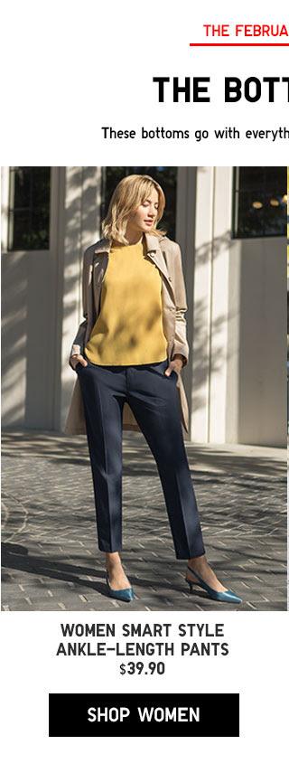 WOMEN SMART STYLE ANKLE-LENGTH PANTS - SHOP NOW