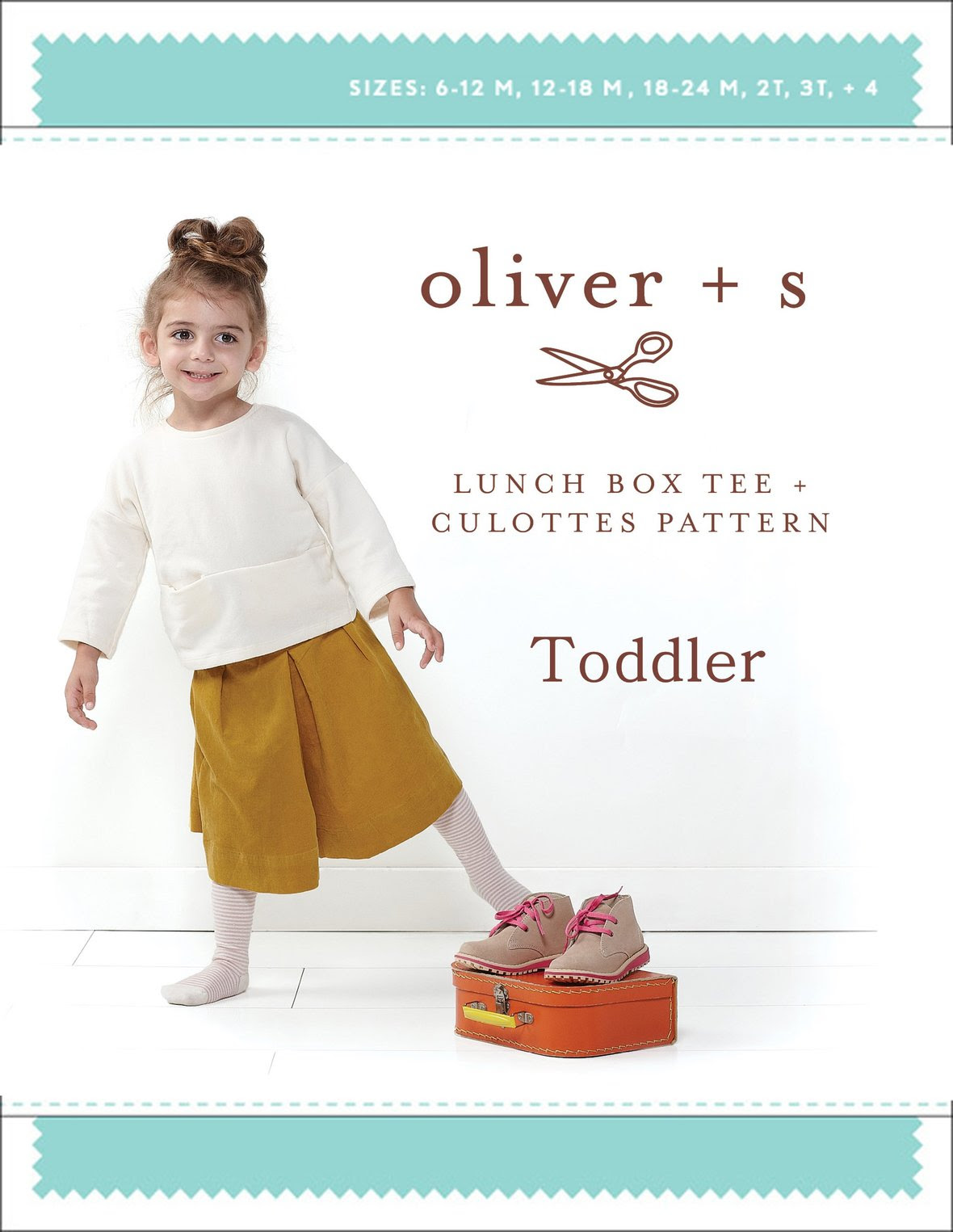 oliver and s  toddler lunch box tee and culottes sewing pattern