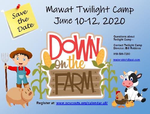 2020 Twilight Camp graphic