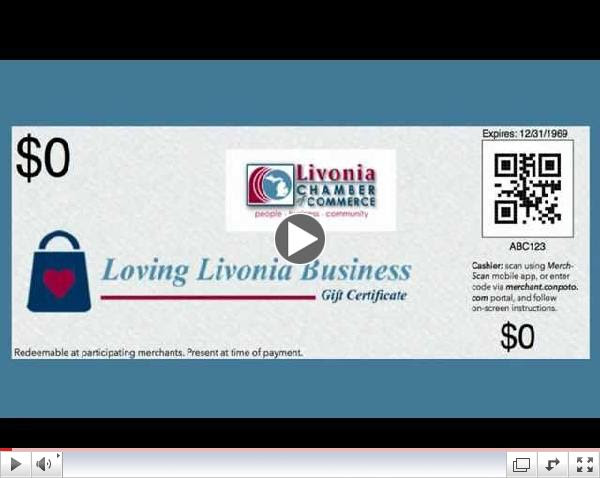 Loving Livonia Business - Gift Certificates