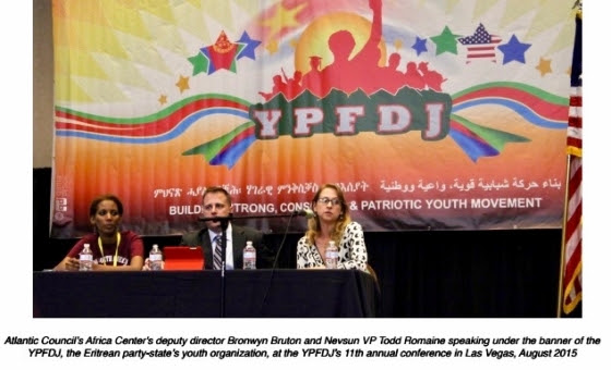 Atlantic Council's Bronwyn Bruton and Nevsun VP Todd Romaine at YPFDJ annual conference August 2015