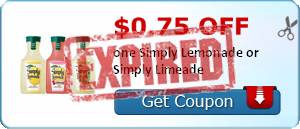 $0.75 off one Simply Lemonade or Simply Limeade