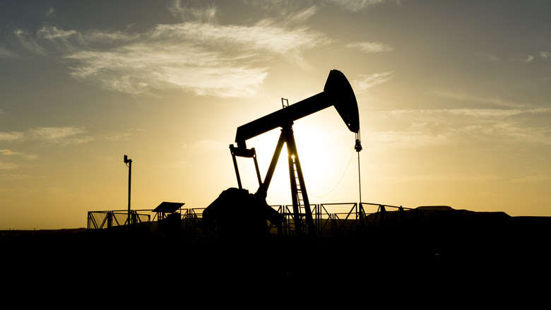 Silhouette of crude oil pump in the oilfield at sunset. Photo: P.V.R.Murty/Shutterstock