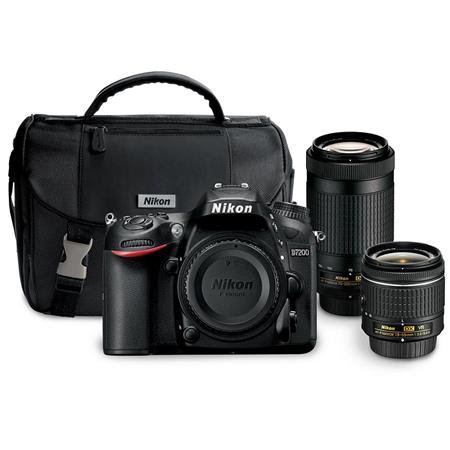 D7200 DSLR Camera Kit with AF-P DX 18-55mm f/3.5-5.6G VR Lens & AF-P DX 70-300mm f/4.5-6.3
