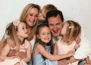 Close knit: The O'Halloran family in happier times with Isabella, Tara, Ben, Scarlett, Richard and Amber all together