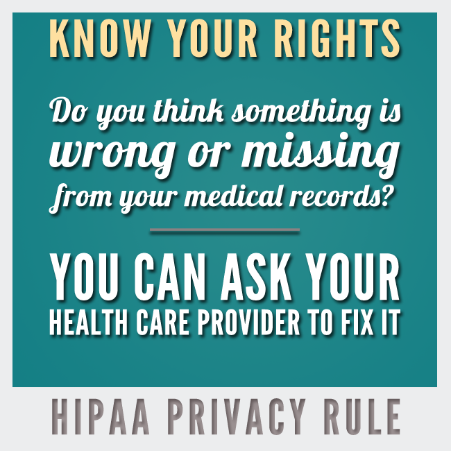 Know Your HIPAA Rights. HIPAA Privacy Rule.