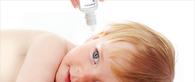 baby receiving ear drops