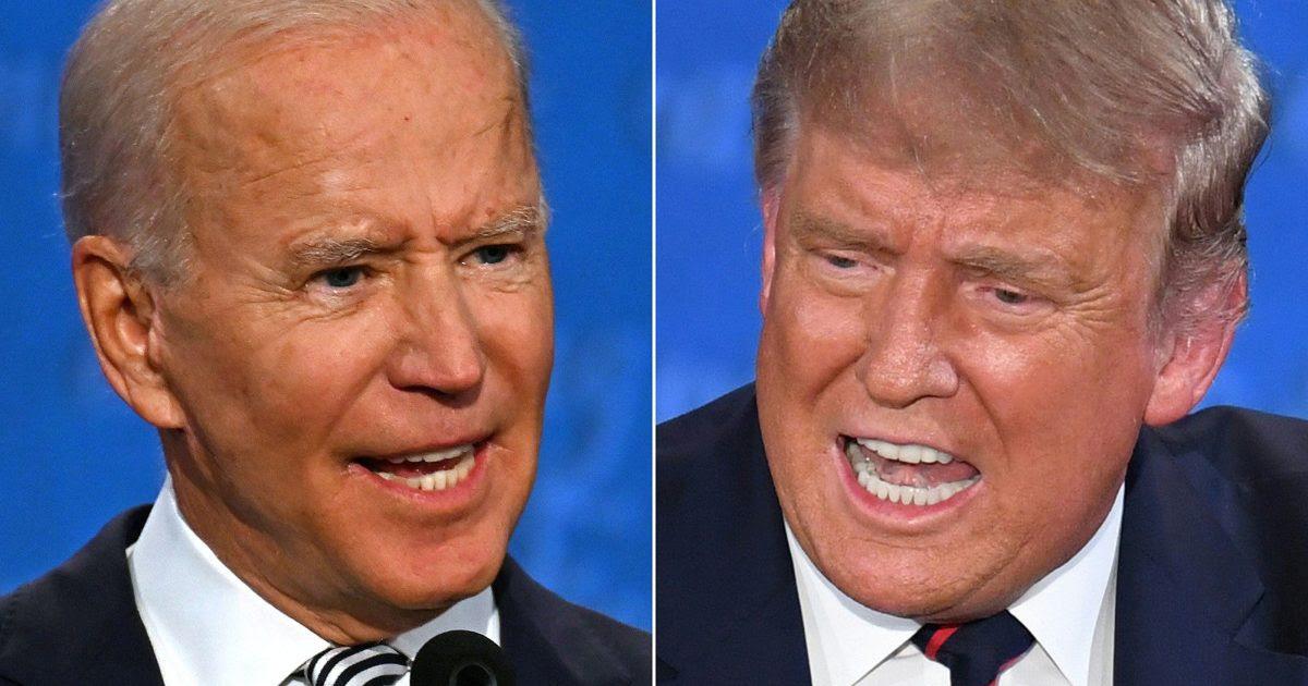 "POLL: 82% of Trump Supporters Don't See Biden as ""Legitimate"" President-Elect BidenTrumpDebate-1200x630"