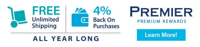 FREE Unlimited Shipping   4% Back On Purchases. ALL YEAR LONG. Premier - Premium Rewards. Learn More!