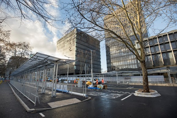 Euston's taxi rank moves above ground as part of 2019 station changes