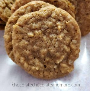 closeup of a coconut cookie