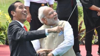 Modi with Joko Vidodo