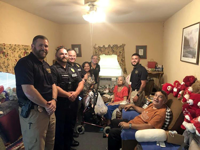 Texas police officers in a citizen's home