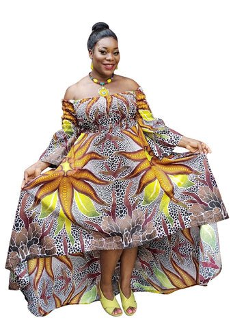 African Print Orinoks Maxi Dress