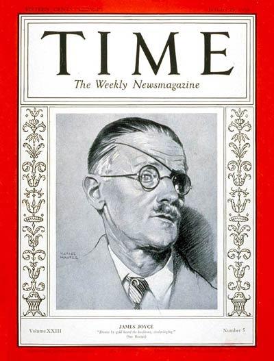"""Portada de la edición de """"Time"""" que en 1934 dedicó a Joyce"""