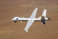 NASA's Ikhana Predator B received an avionics upgrade, wingtip winglets, and a new paint scheme in 2013.