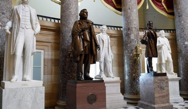 Capitol's Confederate Cleansing Poses Difficult Decisions for Democrats