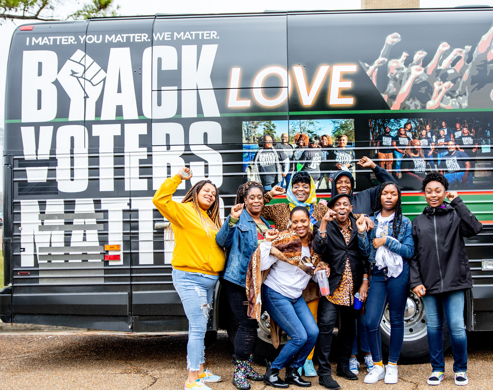 Black Voters Matter uses buses in its community organizing events
