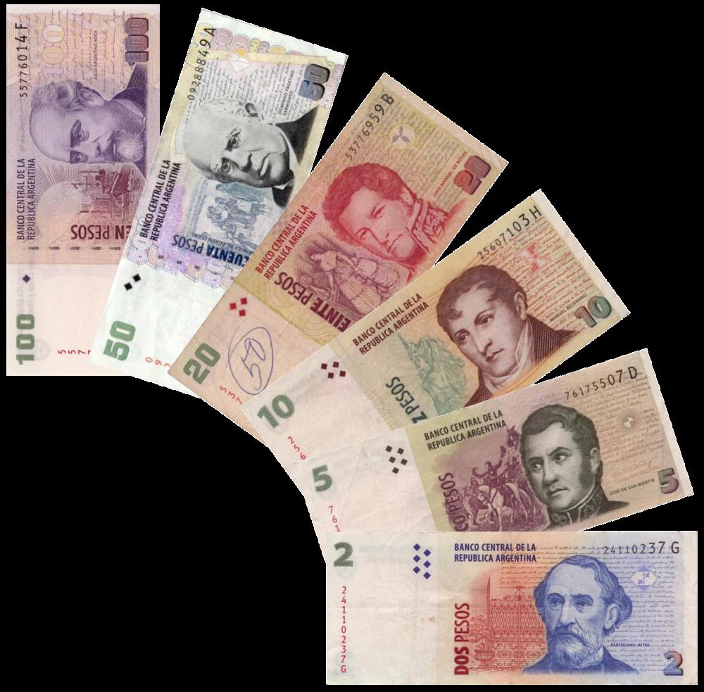 Peso argentino, billetes