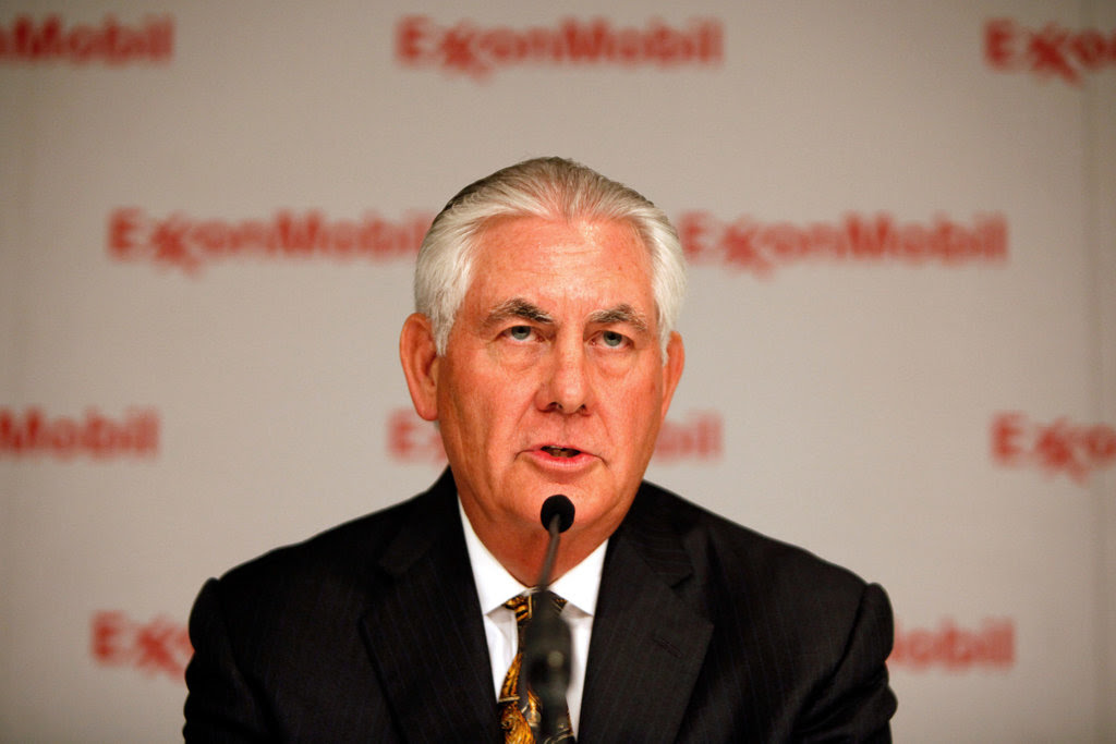 Rex W. Tillerson during a meeting of shareholders in Dallas in May.