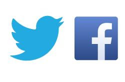 twitter,Facebook,pintrist,and linked in logos