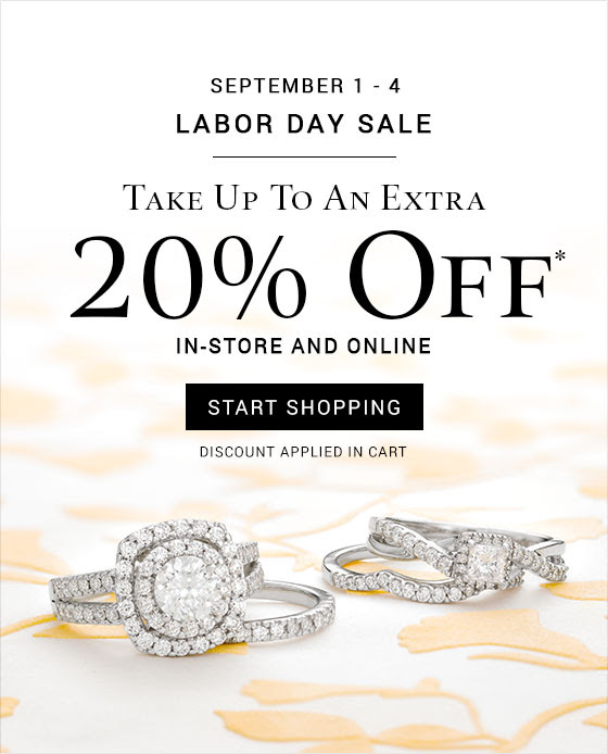 Take up to an extra 20% off* in-store and online through September 4.